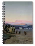 The Shepherds Led By The Star Arriving At Bethlehem Spiral Notebook