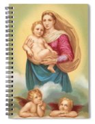 The Sistine Madonna Spiral Notebook