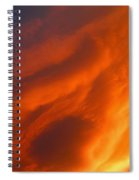 The Sky Is Burning Spiral Notebook