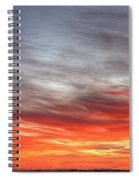 The Sky Is Smoking Hot In Widescape Spiral Notebook
