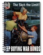 The Sky's The Limit - Ww2 Spiral Notebook