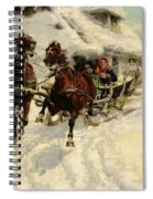 The Sleigh Ride Spiral Notebook