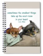 The Smallest Things Square Format Spiral Notebook