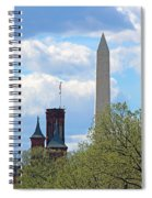 The Smithsonian Castle And Washington Monument In Green Spiral Notebook