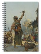 The Snake Charmer Spiral Notebook