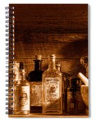 The Snake Oil Shop - Sepia Spiral Notebook