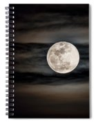 The Snow Moon Is Arising  Spiral Notebook