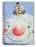 The Snowman's Head Spiral Notebook