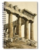 The South-east Corner Of The Parthenon. Athens Spiral Notebook
