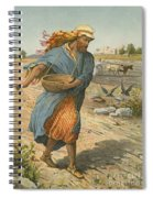 The Sower Sowing The Seed Spiral Notebook