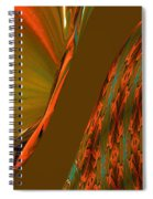 The Space Between Two Forces Abstract Spiral Notebook