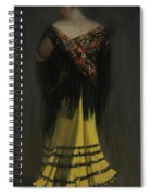The Spanish Shawl - Portrait Of Jeanne Frankenberg Spiral Notebook