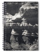 The Spectacular Grand Canyon Bw Spiral Notebook