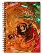 The Spirit Of Christmas - Abstract Art Spiral Notebook