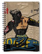 The Spirit Of Detroit Statue Recycled Michigan License Plate Art Homage Spiral Notebook