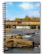 The Square Dance Venue Watson Mill Covered Bridge Spiral Notebook