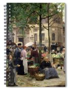 The Square In Front Of Les Halles Spiral Notebook