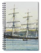 The Square-rigged Australian Clipper Old Kensington Lying On Her Mooring Spiral Notebook