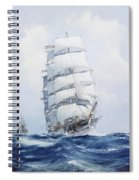 The Square-rigged Wool Clipper Argonaut Under Full Sail Spiral Notebook