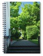 the stairs behind the Gottstatt Monastery church Spiral Notebook