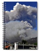 The Station Fire Panoramic Spiral Notebook