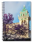 The Steeple Of The Valldemossa Charterhouse In Spring Spiral Notebook