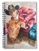 The Steer Wrestler Spiral Notebook