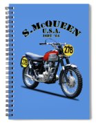 The Steve Mcqueen Isdt Motorcycle 1964 Spiral Notebook