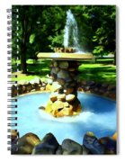 The Stone Fountain Spiral Notebook