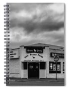 The Stone Pony Asbury Park New Jersey Black And White Spiral Notebook