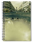 The Street Fall Spiral Notebook