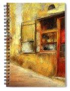 The Street  -- Original Painting Spiral Notebook