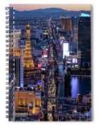 the Strip at night, Las Vegas Spiral Notebook