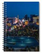 The Strip Las Vegas Spiral Notebook