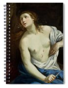 The Suicide Of Lucretia 1640 Spiral Notebook