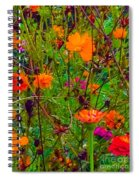 The Summer Flower Party Spiral Notebook