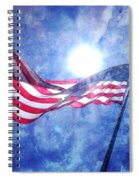 The Sun And The Flag Spiral Notebook