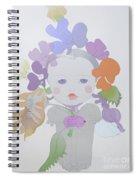 The Sun Flower Child Fairy Spiral Notebook