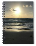 The Sun Is Rising Over The Ocean Spiral Notebook