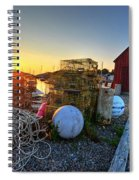 The Sun Rising By Motif 1 In Rockport Ma Bearskin Neck Lobster Traps Spiral Notebook