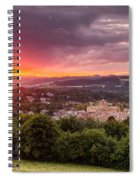 The Sun Sets Over Hexham Spiral Notebook