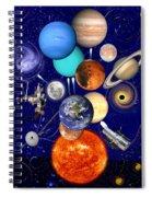 The Sunflower Solar System Spiral Notebook
