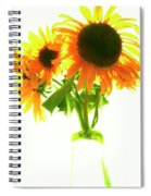 The Sunflowers In A Glass Vase. Spiral Notebook