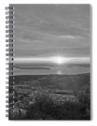 The Sunrise From Cadillac Mountain In Acadia National Park Black And White Spiral Notebook