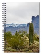 The Superstitions  Landscape Spiral Notebook
