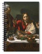 The Supper At Emmaus Spiral Notebook