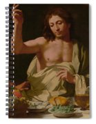 The Supper At Emmaus-detail Spiral Notebook