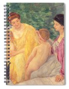 The Swim Or Two Mothers And Their Children On A Boat Spiral Notebook