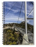 The Swinging Bridge Of Grandfather Mountain Spiral Notebook