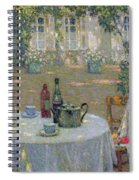 The Table In The Sun In The Garden Spiral Notebook